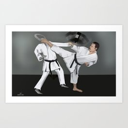 Karate Corky Art Print