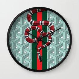 Goyard guci snake cheveron pattern Wall Clock