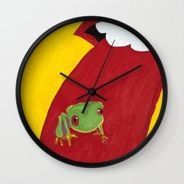 Frog Licker Wall Clock