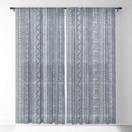 Mud Cloth Stripe Sheer Curtain