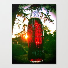 Cola sunset Canvas Print