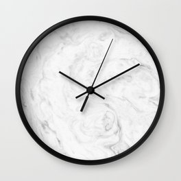 Light grey marble Wall Clock