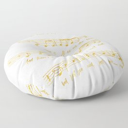 My Name is Alexander Hamilton | Musical Notes Floor Pillow