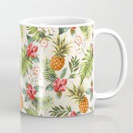 pineapple with tropical flower Coffee Mug