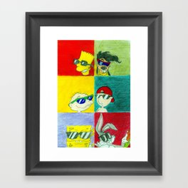 90s Cool Kids Framed Art Print