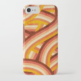 Vintage Orange 70's Style Rainbow Stripes iPhone Case