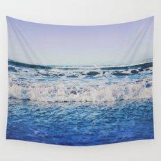 Indigo Waves Wall Tapestry