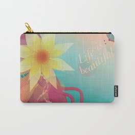 Girl with Pink Hair Carry-All Pouch