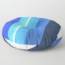 Parallel Blues Floor Pillow