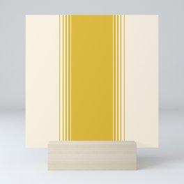 Marigold & Crème Vertical Gradient Mini Art Print