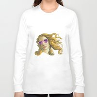 popart Long Sleeve T-shirts featuring Venus the Popart Goddess by Ugurcanozmen