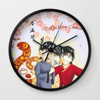 conan Wall Clocks featuring Detective Conan by Black Wing