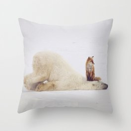 Foxy takedown Throw Pillow