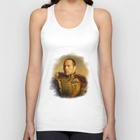 allyson johnson Tank Tops featuring Dwayne (The Rock) Johnson - replaceface by replaceface