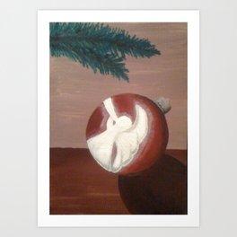 Christmas Angel Ornament Art Print