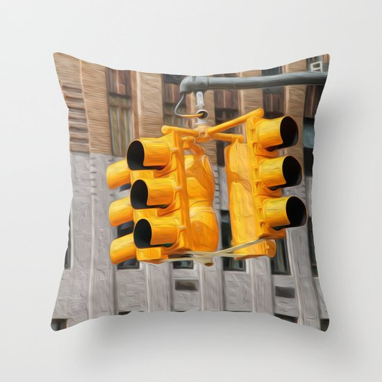 Traffic lights Throw Pillow