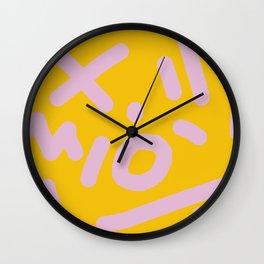 millennial jumble Wall Clock