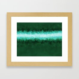 Green Forest Abstract Framed Art Print
