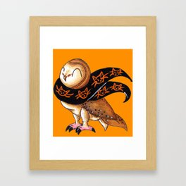 Happy Owl-o-Ween (Barn Owl) Framed Art Print