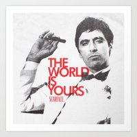 scarface Art Prints featuring SCARFACE by I Love Decor