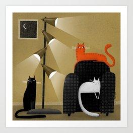RETRO LAMP Art Print