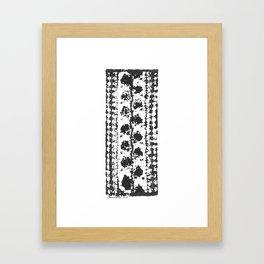 Crochet Impressions: LEAVES Framed Art Print