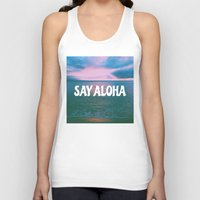 coconut wishes Tank Tops featuring COCONUT PALM  by Samantheeyo