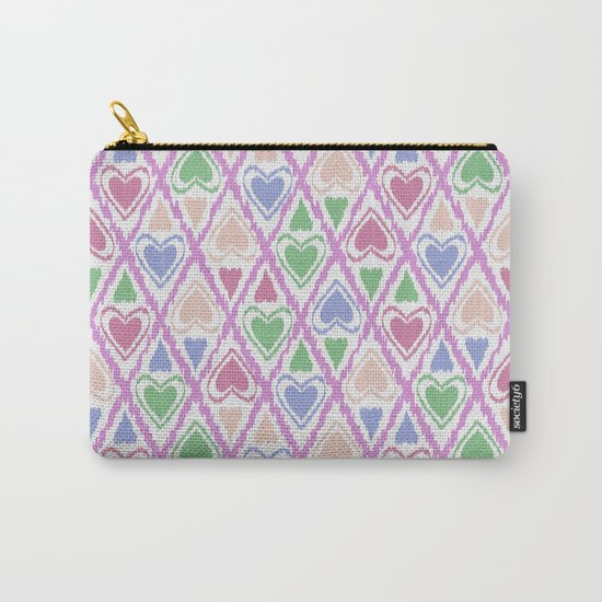 Favorite pattern . Brown, pink , green . Carry-All Pouch