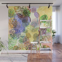 Tropical Monstera Sunshine Wall Mural