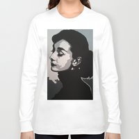 audrey Long Sleeve T-shirts featuring Audrey by AUSKMe2Paint