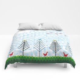 Treetop Birds Comforters