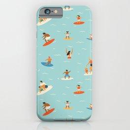 Surfing kids iPhone Case