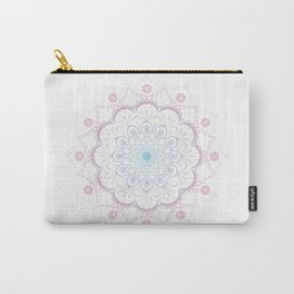 Mandala in pink and blue Carry-All Pouch