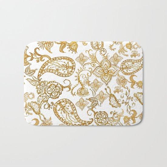 India henna pattern Bath Mat