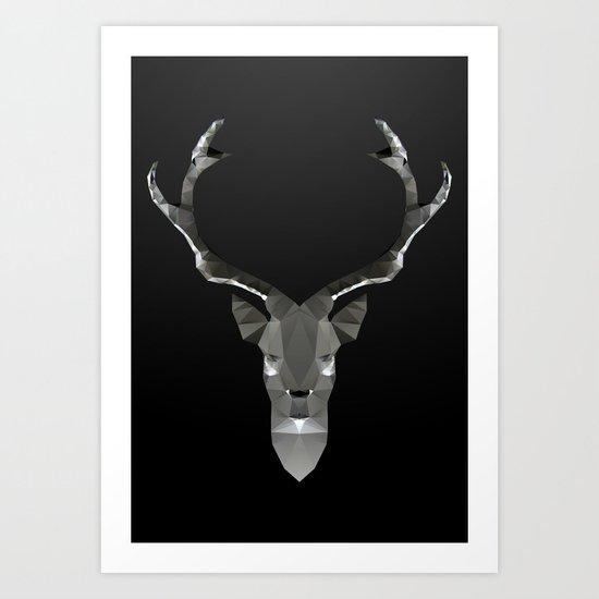 Geo Metal Deeer 01B Art Print