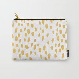Minimalist Gold Carry-All Pouch