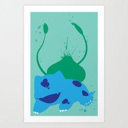 Bulba-saur Splat Art Print