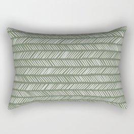 Fir Tree Green Small Herringbone Drawing Rectangular Pillow