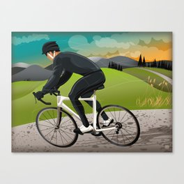 Road Cyclist Canvas Print