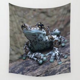 Blue tree frog Wall Tapestry