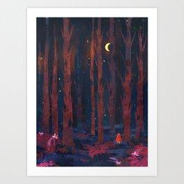 Red Cloak Art Print