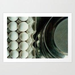 India: Eggs & Plates Art Print