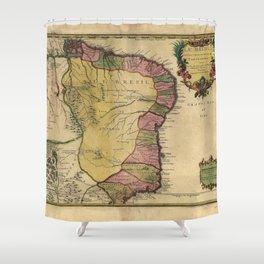 Le Bresil (Brazil) by Nicolas de Fer from 1719 Shower Curtain