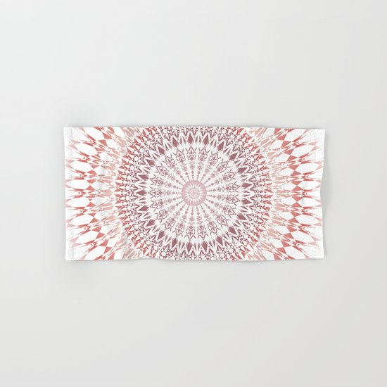 Red Brown White Mandala Hand & Bath Towel
