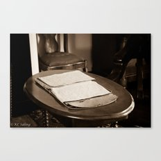 Writing Desk Canvas Print