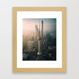 Shanghai Sunrise Framed Art Print