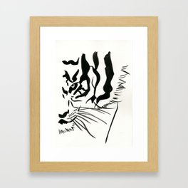 Eye of a Tiger Framed Art Print