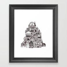 London pencil lines Framed Art Print