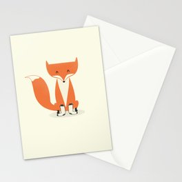 A Fox With Socks Stationery Cards