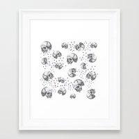 skulls Framed Art Prints featuring SKULLS by Vickn